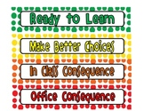 Behavior Chart and Incentive Bracelets