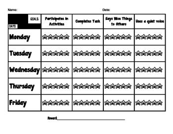 Behavior Chart and Tracker