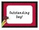 Behavior Chart and classroom signs - Ladybug Themed Editable!