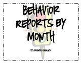 Behavior Chart by Month