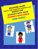 Behavior Chart That Works for: Students with ADHD, Students Who Argue, and More!