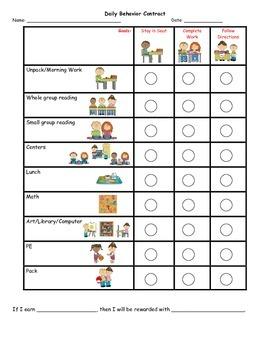 Behavior Chart for K Jones