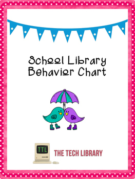 Behavior Chart for School Libraries