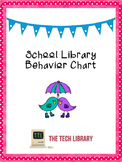 Behavior Chart for School Libraries