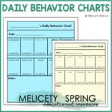 Behavior Chart for Students Time on Task, Work Completion