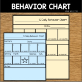 Behavior Chart for Students Time on Task Work Completion P