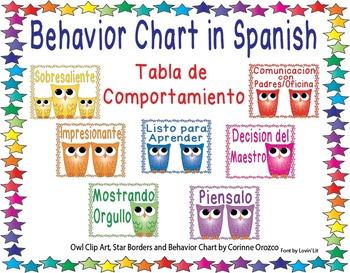 Spanish Behavior Chart