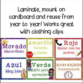 Classroom Management Behavior Chart In Spanish By Leigh