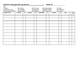 Behavior Chart (used to track behavior credit)
