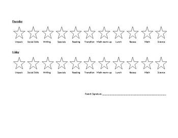 Behavior Chart with Stars