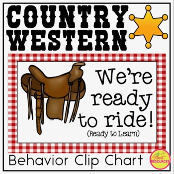 Behavior Clip Chart {Country Western Classroom Decor Theme}