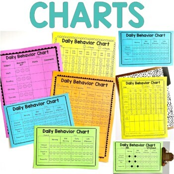 Behavior Charts Editable By Brooke Reagan  Teachers Pay Teachers