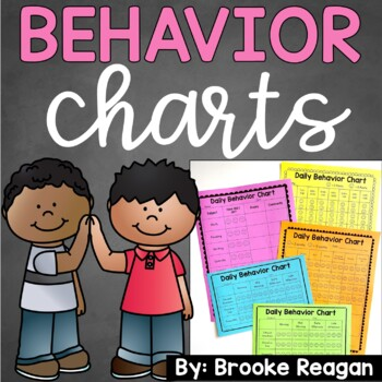 Behavior Charts- for Behavior Management  {Editable}