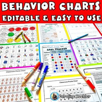 Behavior Charts SET 1: Editable Sheets to Plan & Improve Behavior