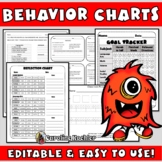 Behavior Charts SET 1: Editable Sheets to Plan & Improve Behavior