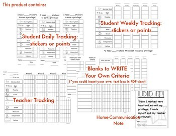 Behavior Chart: Intervention Tracking System {Primary Level}