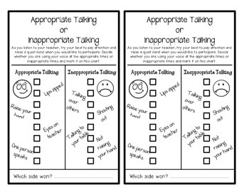 Behavior Charts (On-Task & Appropriate Talking)