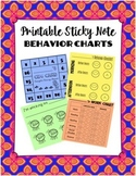 Behavior Charts- Printable Sticky Note Template