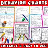 Behavior Charts SET 3: Editable Sheets to Plan & Improve Behavior