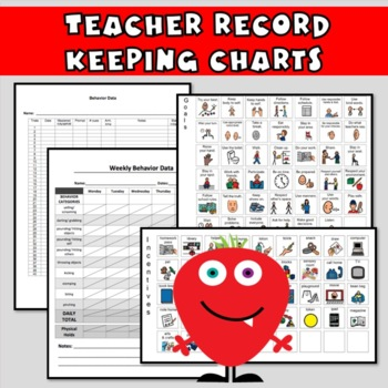 Behavior Charts SET 4: Editable Sheets to Plan & Improve Behavior