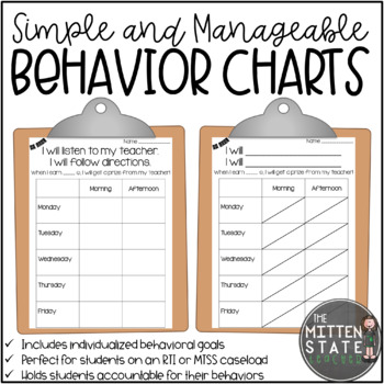 Adhd Behavior Charts Worksheets Teaching Resources Tpt