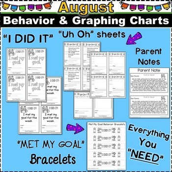 Student Behavior Charts and Graphing Data Tracking- Back to School