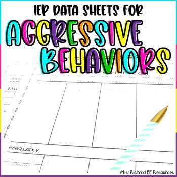 Behavior Charts and Logs for Aggressive Behaviors