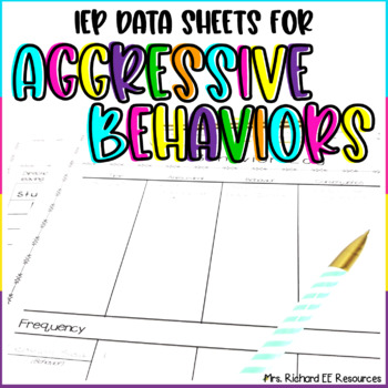 Behavior Charts and Logs for Aggressive Behaviors