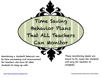 Behavior Charts for Students with Disabilities
