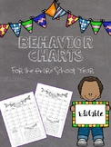 Behavior Charts for the Entire School Year