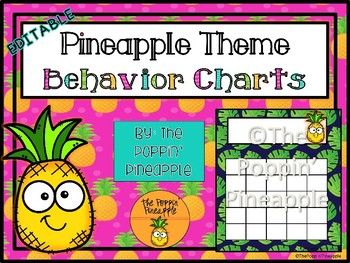 Behavior Charts in Tropical Pineapple Theme