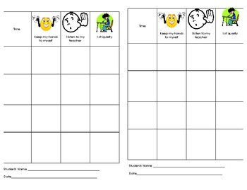Behavior Charts with Pictures