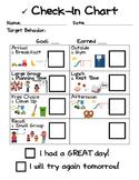 Behavior Check-In Chart - Preschool