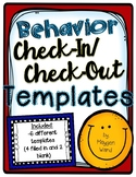 Behavior Check-In/Check-Out Templates