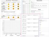 Behavior Check Sheet and Data Chart