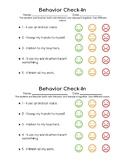 Behavior Check-in (PDF Version)