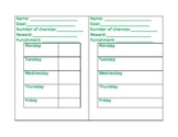 Behavior Check-in Sheet