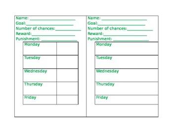 behavior check in sheet by autumn knowlton teachers pay teachers