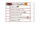 Behavior Checklist- Editable