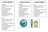 Behavior Checklist to Keep in Pocket