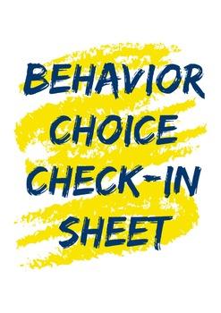 Behavior Choice Check-In