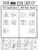 Behavior Choices at School {Good or Poor} Sorting Kindergarten or First Grade