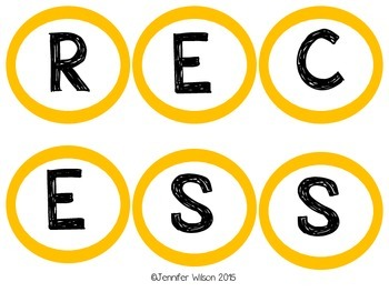 Behavior (Class Recess Letters)