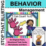 Behavior Management Stop that Blurting and Calling Out {Grades K-3}