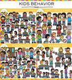 Behavior Clip Art Bundle {Whimsy Clips School Clip Art}