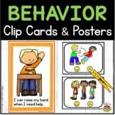Preschool Behavior Clip Cards and Posters