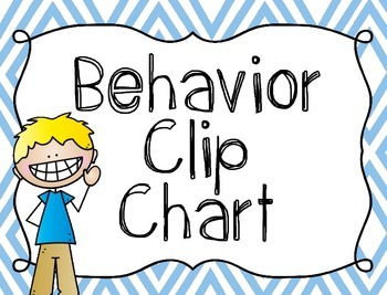 Behavior Clip Chart {Positive and Negative Choices}