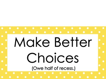 Behavior Clip Chart ~3 Different sets to choose from, small polka dots