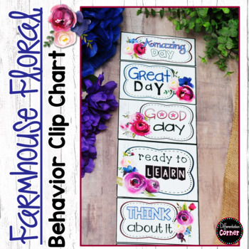 Behavior Clip Chart Farmhouse Classroom Decor Theme