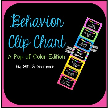 Behavior Clip Chart-A Pop of Color